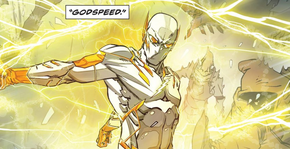 Godspeed's initial entry to the Flash universe. Image copyright DC Comcis