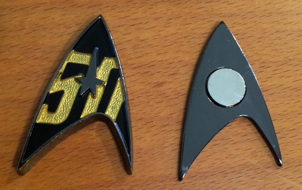 The pin's front and back pieces. This thing is solid, and the magnet is strong. Photo: Jenny Bristol