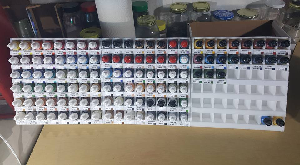 Create Your Own Gaming Miniatures Paint Organizer