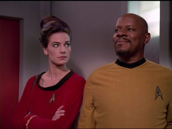 screen cap from DS9: Trials and Tribble-ations