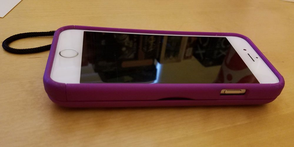The Eyn storage case on my daughter's iPhone 6S. Image by Rob Huddleston