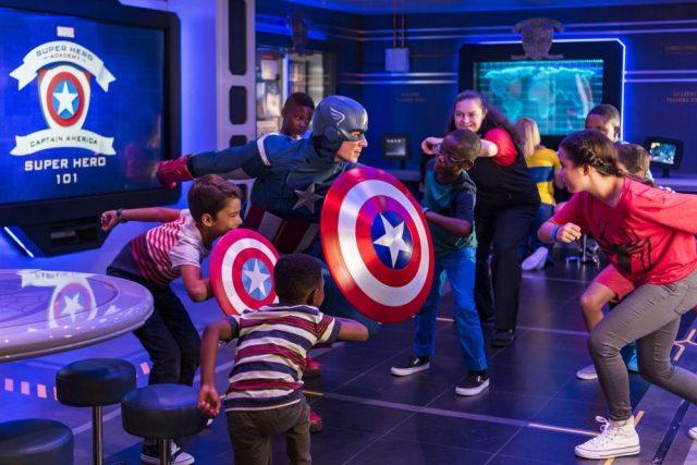 Captain America does Captain America things, like only Captain America can. (Matt Stroshane, photographer)