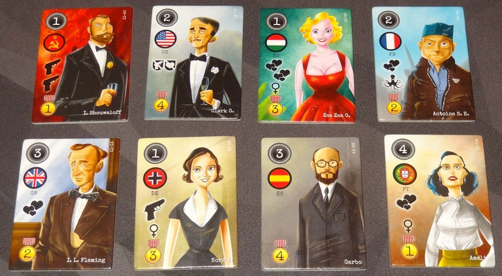 City of Spies character tiles