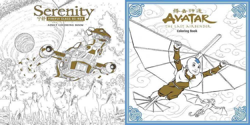 Serenity and Avatar Coloring Books