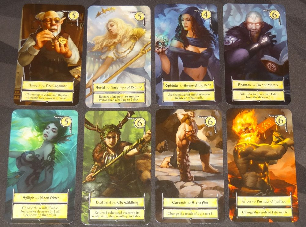 Eight Epics avatars