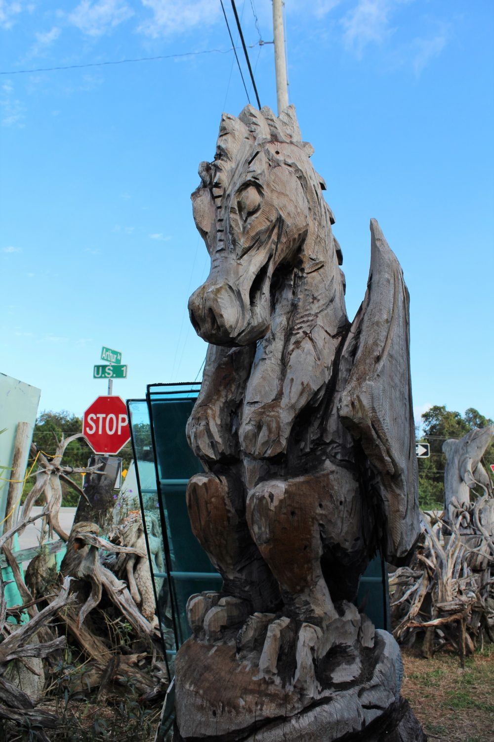 This dragon is over ten feet tall!