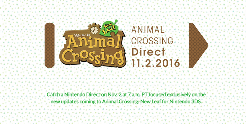 Watch the 'Animal Crossing' Nintendo Direct This AM (Updated!)