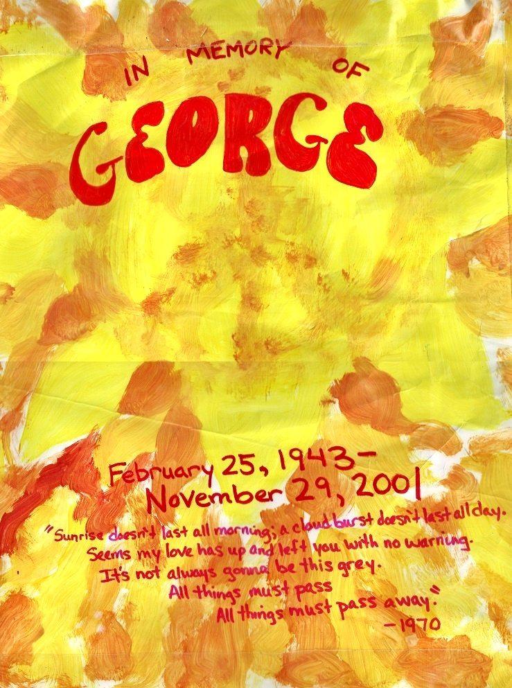 Fan art in memory of George Harrison
