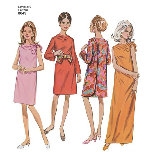 Simplicity isn't kidding about this being a vintage pattern. Here is the image from the original pattern. Image: Simplicity
