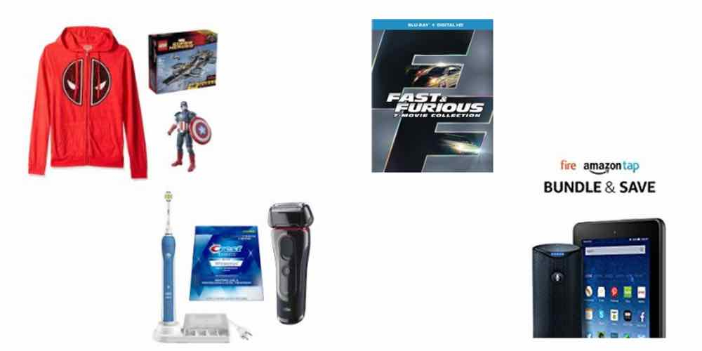 Holidaily Deals on Marvel Gear, Shavers and Toothbrushes, Fast and Furious Movies, and a Tap and Fire Combo