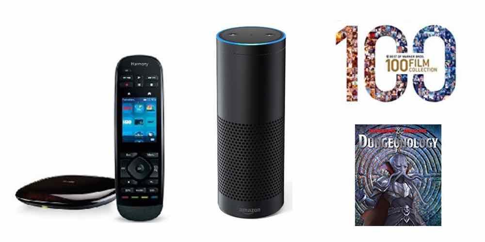 Save Big on Amazon Echo, Logitech Harmony Ultimate, 100 Great Movies, and 'Dungeonology'
