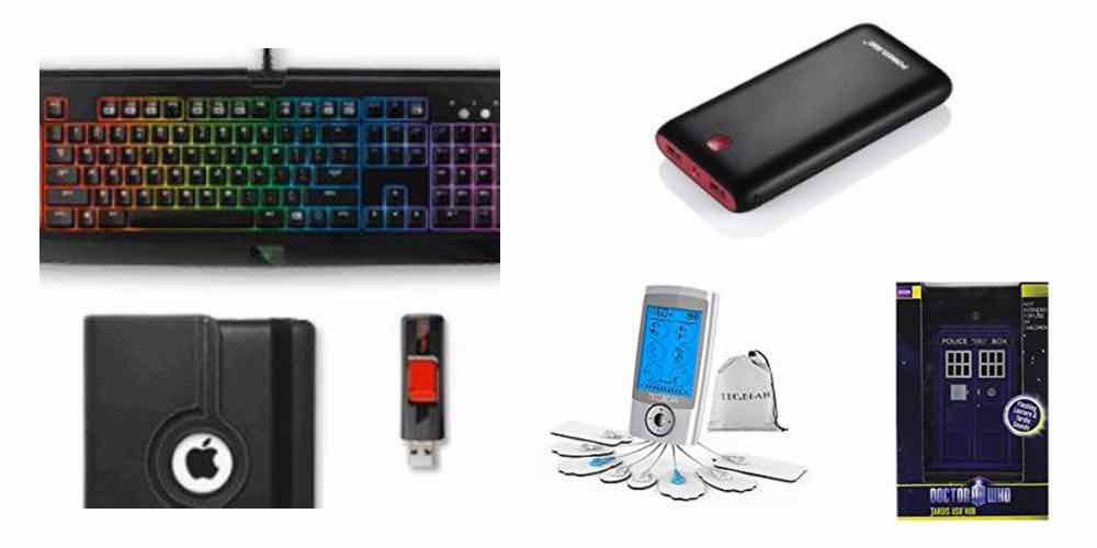 Save Big on Gadget Accessories, Portable Batteries, Tens Pain Relief, and a 'Doctor Who' USB Hub – Daily Deals!