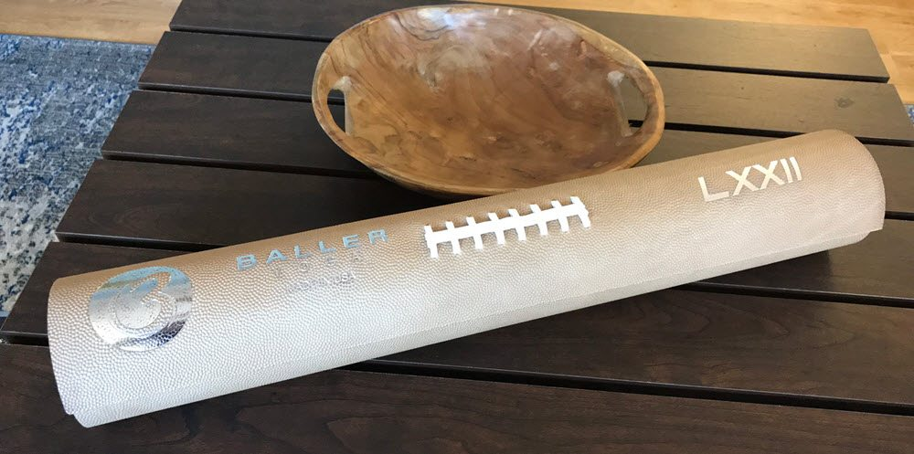 BallerYoga's Football Leather Yoga Mat Is the Last You'll Ever Need