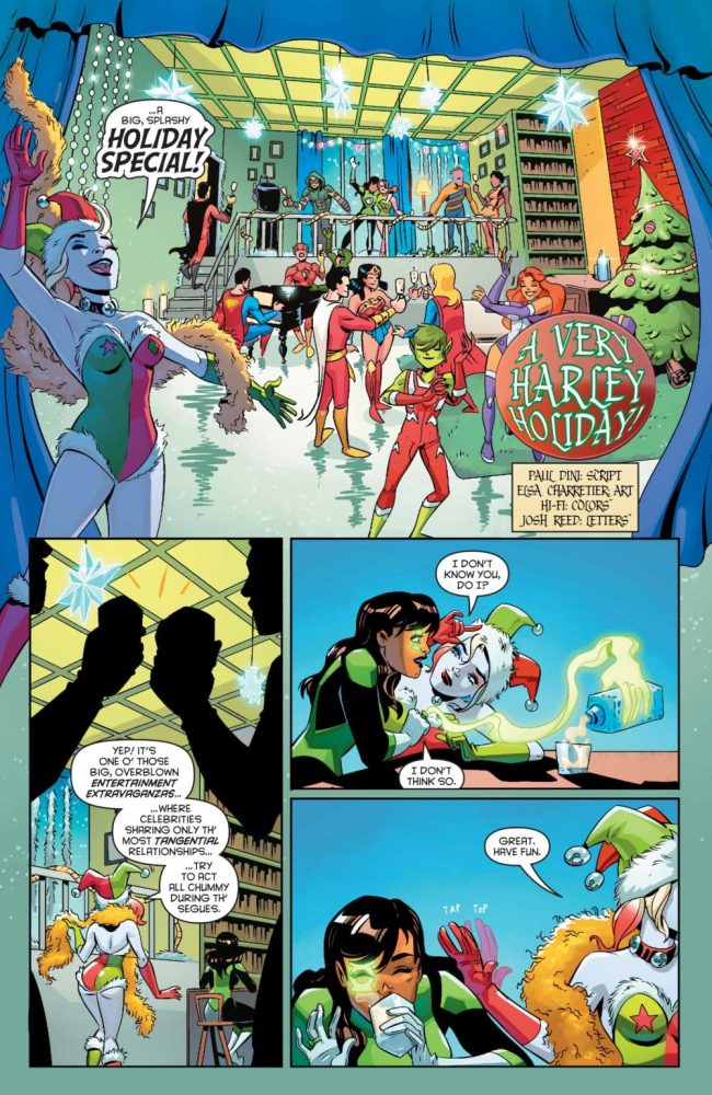 Page from the DC Holiday Special, image via DC Comics