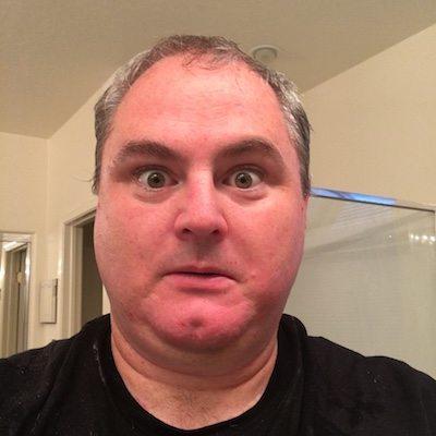 Freshly shaved dad