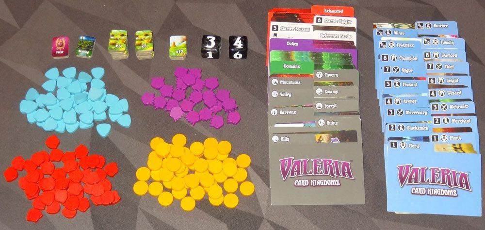 Valeria: Card Kingdoms components