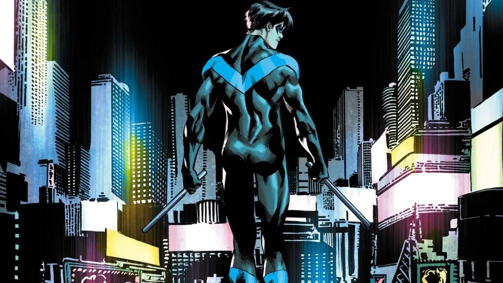 Nightwing #10. The most famous backside in comics. Image via DC Comics