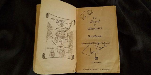 "My signed copy of ""The Sword of Shannara"". Image by Rob Huddleston"