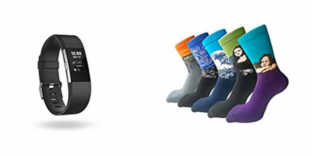 Daily Deals on Fitbit Fitness Trackers, Awesome Artistic Socks – Check 'em Out!