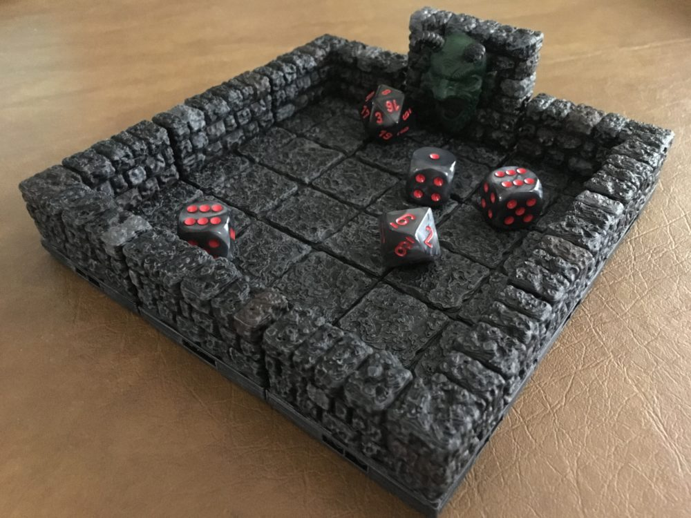 3D Print a 'Tomb of Horrors' Themed Dice Tray