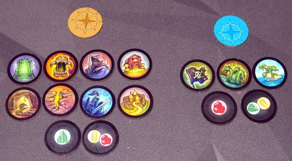 Heroes of Land, Air & Sea exploration tokens