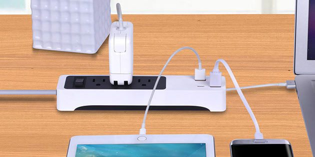 GeekDad Daily Deal: Kinkoo 3-Outlet Surge Protecting Smart Power Strip