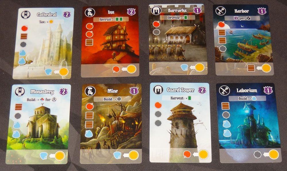 Villages of Valeria Building cards