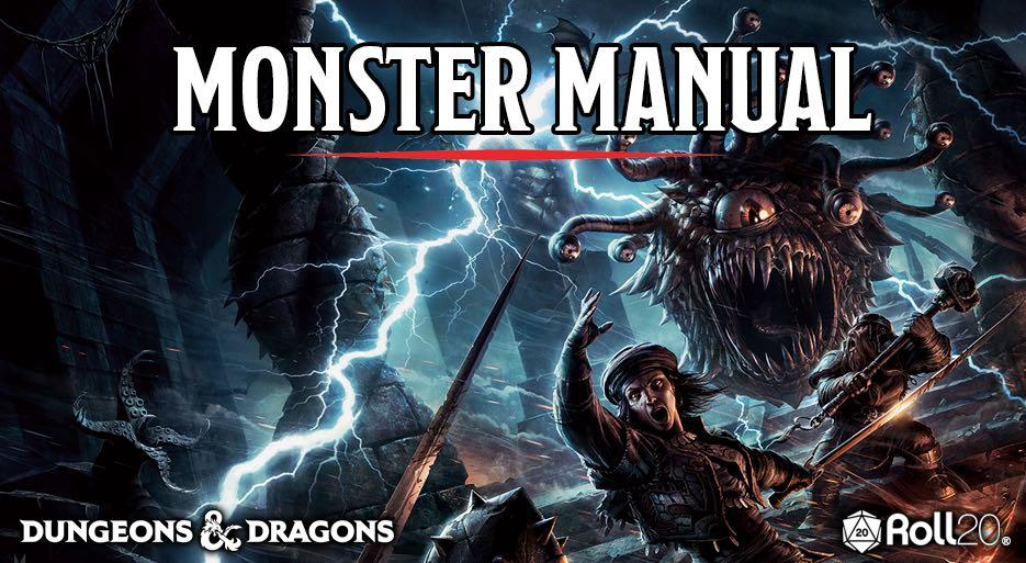 Monster Manual Banner Roll20