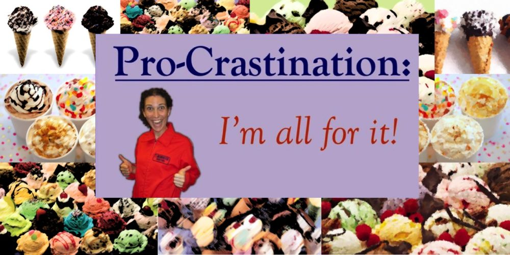 Procrastination Destination: Ice Cream!