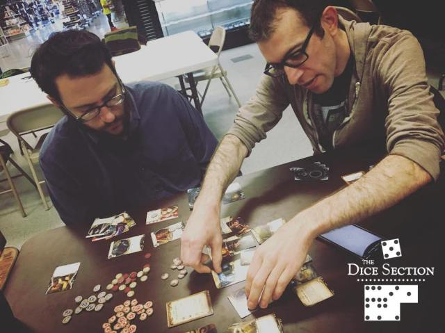 Dave and Geoff playing Arkham Horror LCG