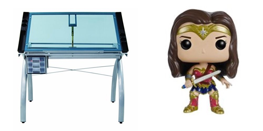 Get a Cool Arts/Crafts/Drafting Table for $120, Funko POP! Wonder Woman on Sale – Daily Deals!
