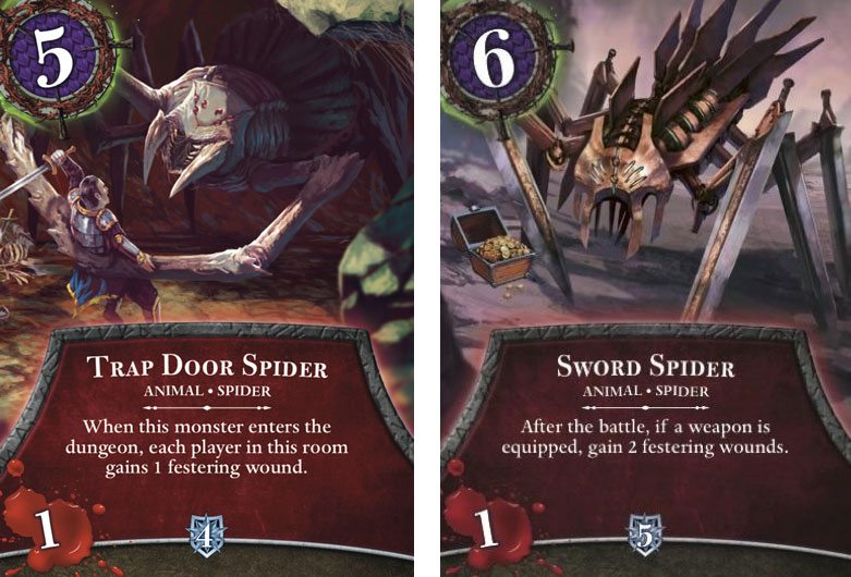 Thunderstone Quest spiders