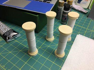 Unpainted Columns