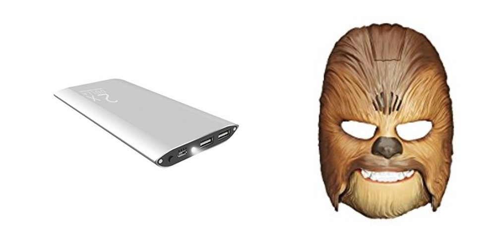 Get a Sleek 12,000 mAh Charger for $16; the World-Famous Chewbacca Mask – Daily Deals!