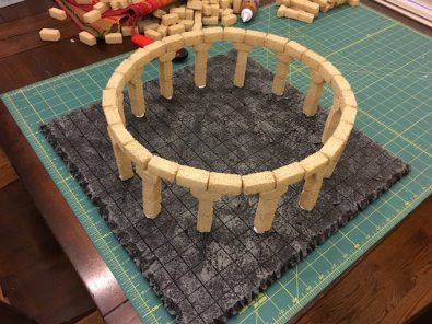 First ring and columns glued