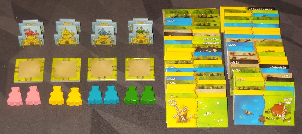 Kingdomino components