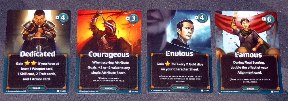 Roll Player Trait cards