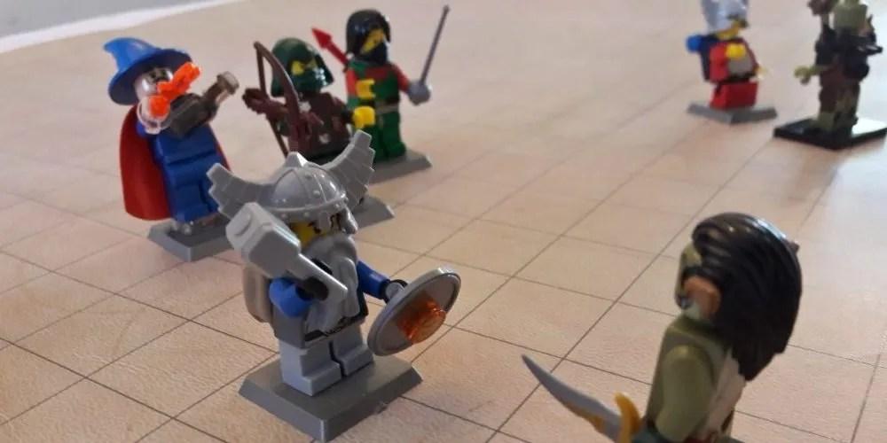 D&D LEGO battle