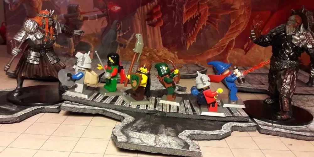 D&D LEGO Giants attack