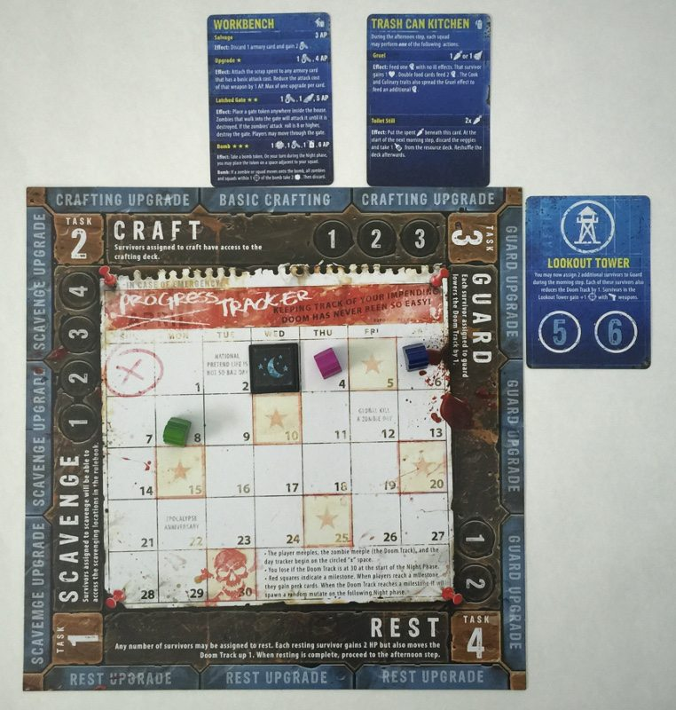 The action board from Zpocalypse 2.