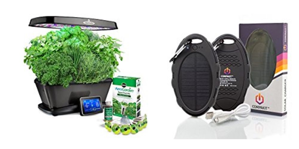 Save Big on Countertop Herb Gardens; Get a Solar Charger for Your Phone – Daily Deals!