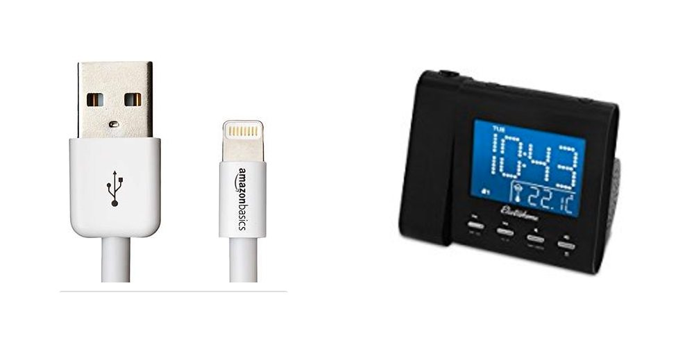 Save Big on All Sorts of Cables; See Time on the Ceiling With a Projection Alarm Clock – Daily Deals!