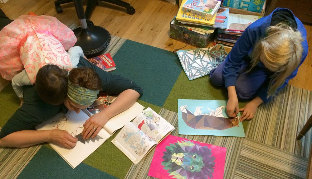 Family working on Animetrics