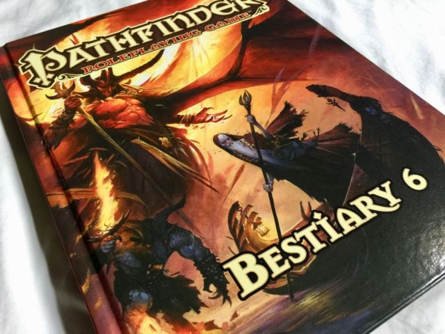 Bestiary 6 Cover Depicting Mephistophleles