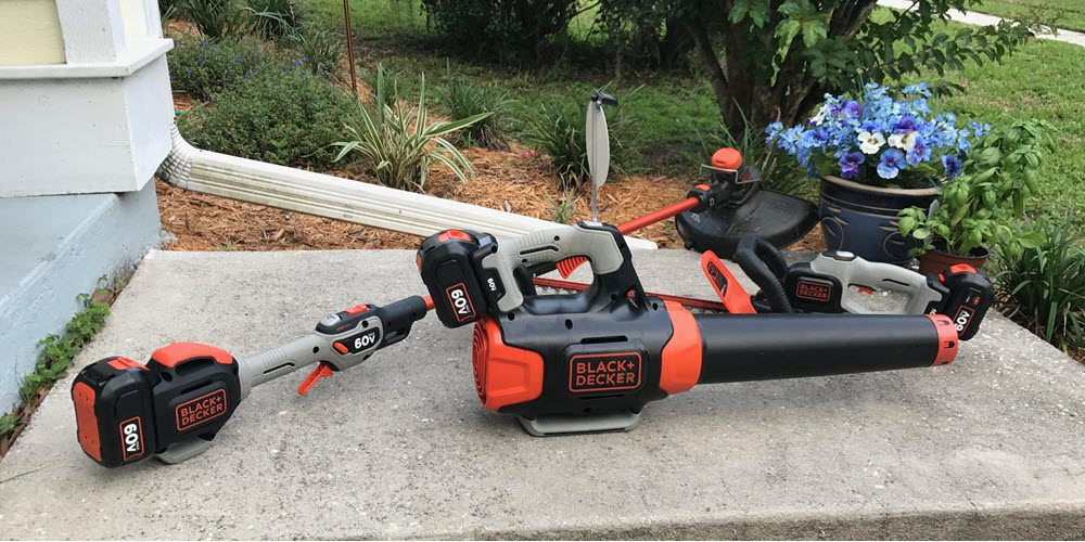 Pure Energy: Black+Decker 60v MAX Blower and Trimmers Blow Gas Tools Away