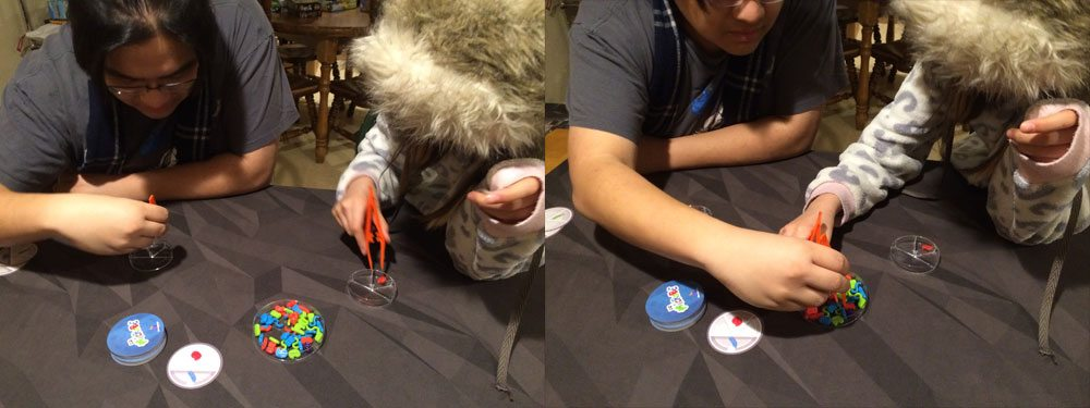 Two players playing Dr. Microbe