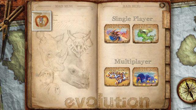 Evolution app menu