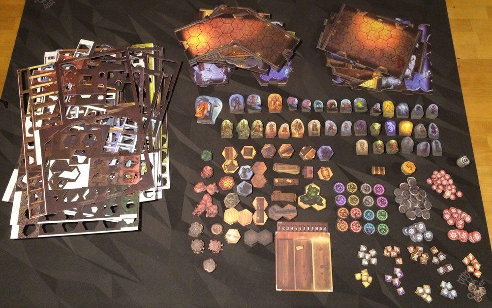 Gloomhaven cardboard components