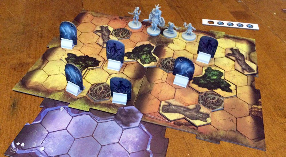 Gloomhaven game in progress