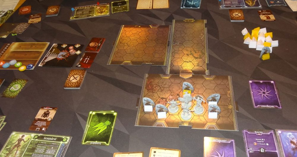 Gloomhaven game in progress